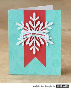 Hero Arts Cardmaking Idea: Merry Christmas Snowflake