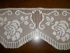 Crochet Borders, Filet Crochet, Crochet Curtains, Elsa, Needlework, Diy And Crafts, Tulle, Embroidery, Knitting