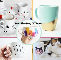 Mugs are a great gift and customizing them can be a fun project. Check out my 16 Coffee Mug DIY Ideas to get some coffee mug makeover inspiration.