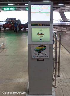 Taxi Ticket Automat für grössere Taxis und Vans Bangkok, Landline Phone, Tricks, Vans, Taxi Driver, Van