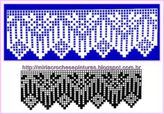Filet Crochet, Crochet Borders, Crochet Diagram, Crochet Chart, Crochet Trim, Knit Or Crochet, Crochet Stitches, Crochet Patterns, Crochet Placemats