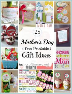 JUST PRINT, CUT, and have the cutest gifts Mom will LOVE!! 25 Great Mother's Day Printables for Free!