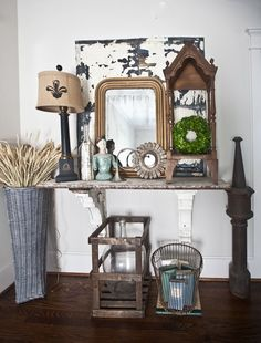 Tips for decorating Country French with baskets: