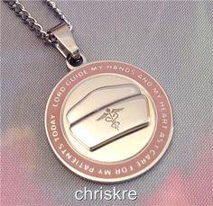 Nurse Nursing Gift Silver Necklace Pendant Stainless Steel Nurses Cap Caduceus #Unbranded #Pendant Silver Pendant Necklace, Washer Necklace, Gumball Machine, Dental Assistant, South Miami, South Beach, Miami Beach, Nurse Gifts, Diy Christmas Gifts