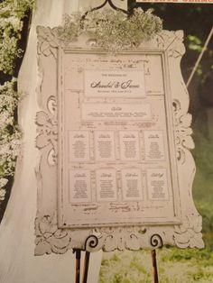 Table plan with baby's breath
