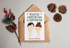 Personalisierte Weihnachtskarte mit eurem Gesicht und Namen! Personalized Christmas card – Geschenkkarte Gift weiss glänzender Kunstdruck von KvanDEER auf Etsy https://www.etsy.com/de/listing/482448240/personalisierte-weihnachtskarte-mit