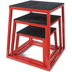 """Titan Fitness 12"""" 18"""" 24"""" Plyometric Box Set HD Step Cross Plyo Jump Exercise -- Details can be found by clicking on the image. (This is an affiliate link) #TeamSports"""