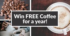 Love coffee? Enter to win FREE coffee for a yehttp://upvir.al/ref/10668427ar! Click here to enter.