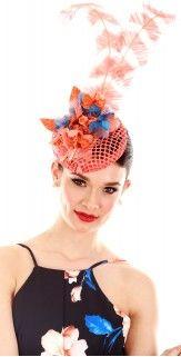 H1448NOBL Melbourne Cup Fashion, Fascinator, Dragon, Hats, Modern, Headdress, Trendy Tree, Hat, Dragons