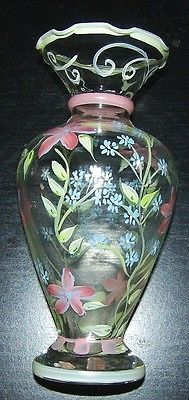 TRACY PORTER Hand-Painted Pink/Green/Blue Floral Bud Vase in Collectibles, Decorative Collectibles, Vases | eBay