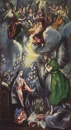 La anunciación (El Greco, Museo del Prado, 1600) - Wikipedia, la enciclopedia libre