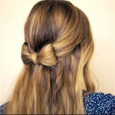 Hair Bow - 20 Beautiful Confirmation Hairstyles - EverAfterGuide