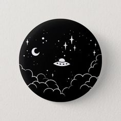 Shop Ufo Pinback Button created by Pijaczaj. Record Wall Art, Cd Wall Art, Cd Art, Easy Canvas Art, Small Canvas Art, Mini Canvas Art, Hippie Painting, Vinyl Art, Aesthetic Art