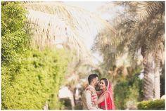 Asian wedding portrait for a destination Indian wedding at the Sofitel Palm Dubai