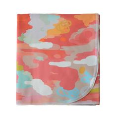 Ikat Coral Watercolor Blanket - $46 at Project Nursery. Nice idea, but I want a different color scheme at a better price ... for my dog.