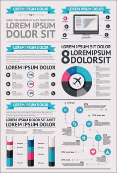 12 Free Vector Infographic Design Elements - Set 9