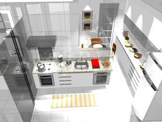 Cozinha e sala de almoço...