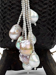 Freshwater Baroque Pearl Lariat Necklace by 88 by Sandy Simonian