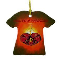 Disc Golf Hardcore Christmas Tree Ornaments