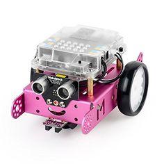mBot è un robot educativo da montare. Si collega attraverso bluetooth per avere il controllo delle sue funzioni.