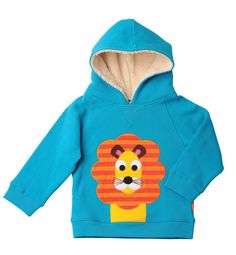 Louis the Lion Fleece Lined Hood Sweatshirt - jolodd.co.uk. Louis the Lion looks super cool on this gorgeous Fleece Lined Hooded Sweatshirt. Just like our other Hooded Sweatshirts, it is soft, yet durable, with the added bonus of a fleece lining just inside the hood, giving it that extra Wintery feel. The fluffy soft fleece, is not only comfortable, but incredibly warm. The perfect item to keep your little man toasty.