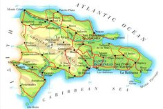 dominican republic map with cities - Google Search