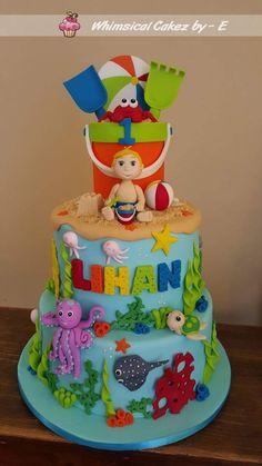 Beach fun birthday cake
