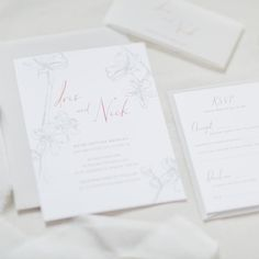 Pretty new Plum Blossom wedding invitations now up on the website. {link in bio}