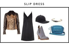 5 Runway Looks, 10 Party-Perfect Outfits A.L.C. Leopard Print Leather Jacket, $1,698 available at Intermix; Maison Martin Margiela Lace Edge Slip Dress, %583, available at Matches; American Apparel Wool And Suede Cap, $46 available at American Apparel; Acne Star Bootie, $426, available at Farfetch; House Of Harlow 1960 Obsidian Feather Cuff, $78, available at Piperlime; Sole Society Dana Cadet Bag, $39.99, available at Sole Society.