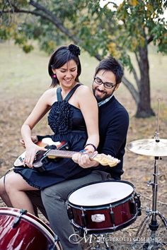 drums-guitar-engagement-photos