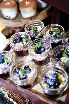 mini blueberry crumbles | Kay English #wedding