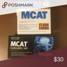 MCAT Flashcards (2 Sets) Barrons and Kaplan Very useful for studying! You get both sets! Other