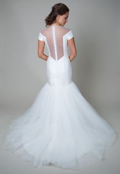 Interesting back design. Heidi Elnora Wedding Dress Collection | Bridal Musings Wedding Blog 14