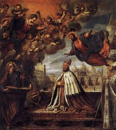 Vecellio Tiziano    Doge Antonio Grimani Kneeling Before the Faith  1575-76