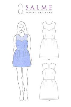 Patron de couture de PDF robe de joug par Salmepatterns sur Etsy, $8.00