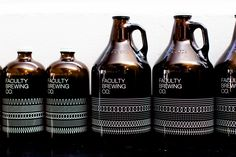 Logotype and screen printed growlers by Canadian graphic design studio Post…