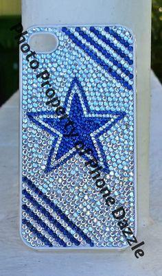Dallas Cowboys Rhinestone Phone Case by PhoneDazzle on Etsy