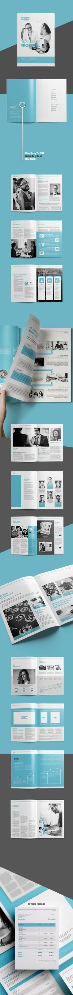 Indesign Business Proposal Template Template Pinterest - business propsal template