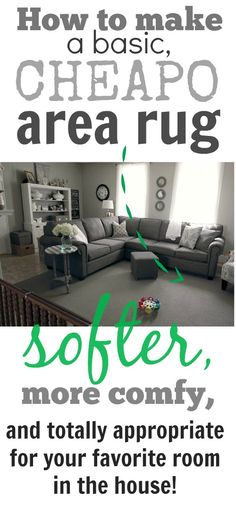 Even if you have a really cheap, basic rug, you can make it feel like a million bucks with the right rug pad!