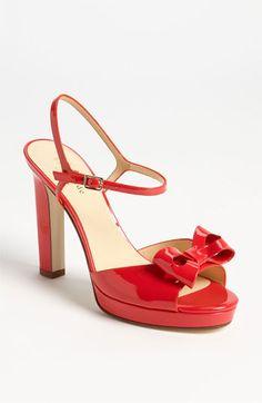 kate spade new york 'reta' sandal Maraschino Red Patent