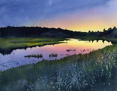 Leslie Redhead Fine Art: Sunset Over the Madison