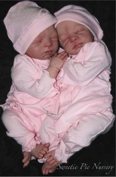 """Twins by Stephanie Sullivan. These darlings are on my """"wish list"""" to buy and reborn."""