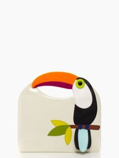 Thank you Susan Falcon for sharing le élégant sac a maín de toucan par Kate Spade :)