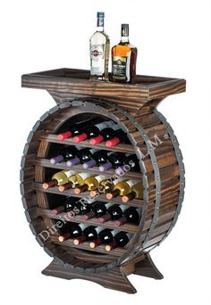 Wine Barrel Table, Beer Table, Rustic Wine Racks, Tequila Bottles, Wine Rack Wall, Barrel Furniture, Bourbon Barrel, Wine Cabinets, Wooden Diy