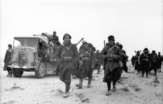 Italian troops with a supply truck early in their conquest of North African countries. Afrika Corps, North African Campaign, Italian Army, National History, Roman History, Army Vehicles, African Countries, Military History, World War Two
