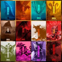 A roster of monsters All Godzilla Monsters, Godzilla Comics, Cool Monsters, Kaiju Size Chart, Godzilla Birthday Party, Godzilla Franchise, Shark Games, Fantasy Movies, Neon Genesis Evangelion