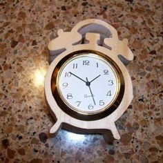Wooden alarm shaped miniature desk clock by Fine Crafts on Opensky