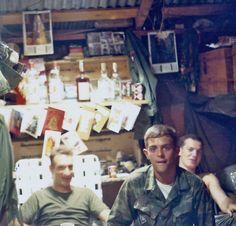 L Company Rangers in hootch 1969
