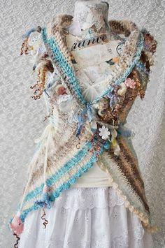 Crochet Cardigan  Sweater  Bohemian  Crochet by irinacarmen, $135.00