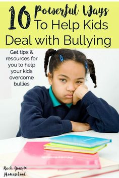 Are you concerned about how you can prepare your kids to deal with bullying? Do you have a child who has suffered due to bullies? Get the help you need with these 10 powerful ways to help kids deal with bullying. Read our story & get the tools you need to help your family. Get even more resources for your family at http://rockyourhomeschool.net